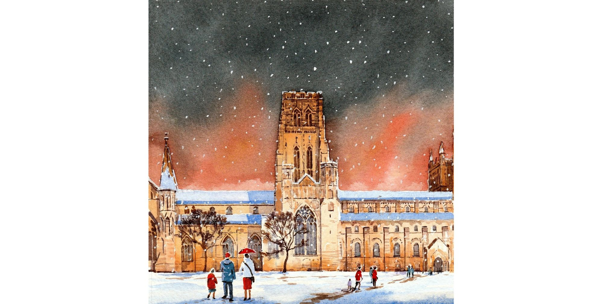 CC13 Durham Cathedral in the snow. Resized.