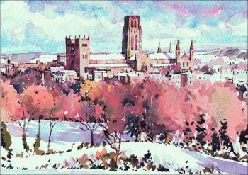 CC04 Durham Cathedral from Obervatory Hill
