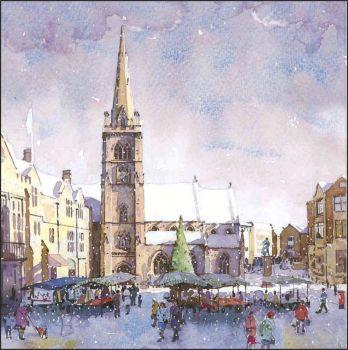 CC08 Christmas Shopping. Market Place, Durham.