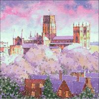 CC09 Snowscene - Durham Cathedral from the train station.