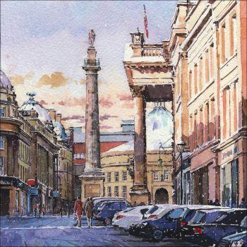 CC11 Winter scene. Grey Street, Newcastle.