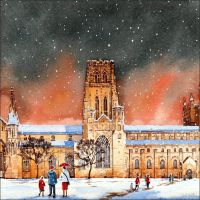 CC13 Durham Cathedral in the snow (Large format)
