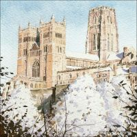 CC12 Durham Cathedral in a snowy landscape