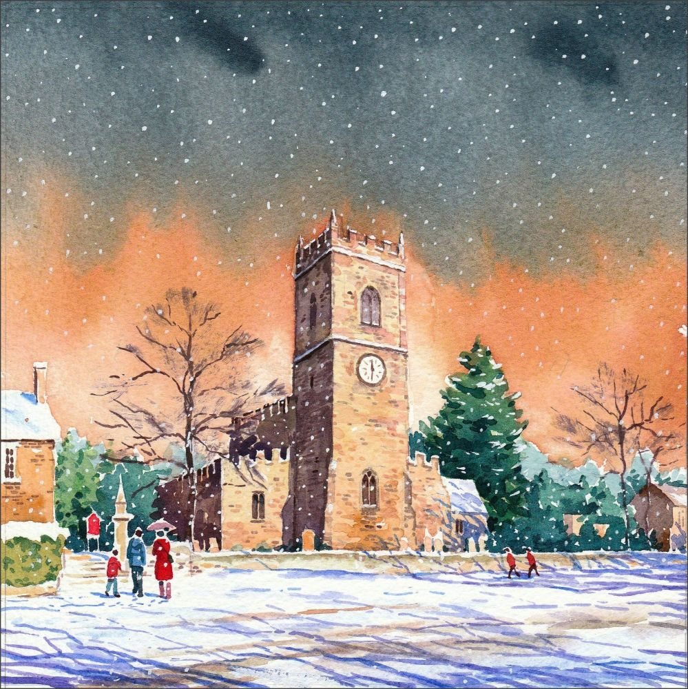 Lanchester Village, County Durham in the snow