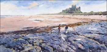 Bamburgh Castle - Afternoon Sunlight