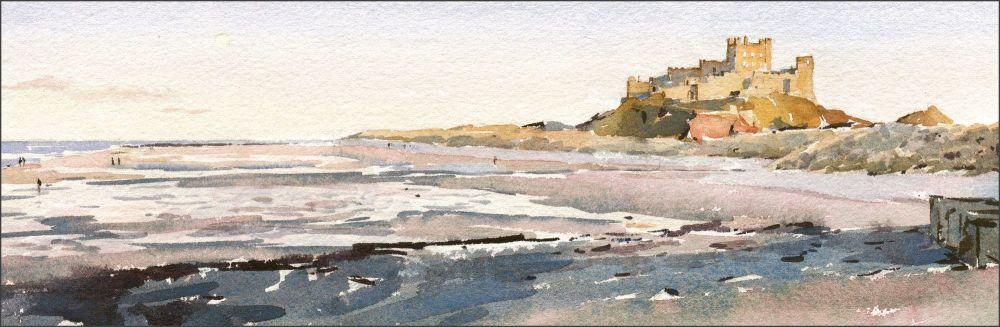 Bamburgh Castle - Evening Sunlight