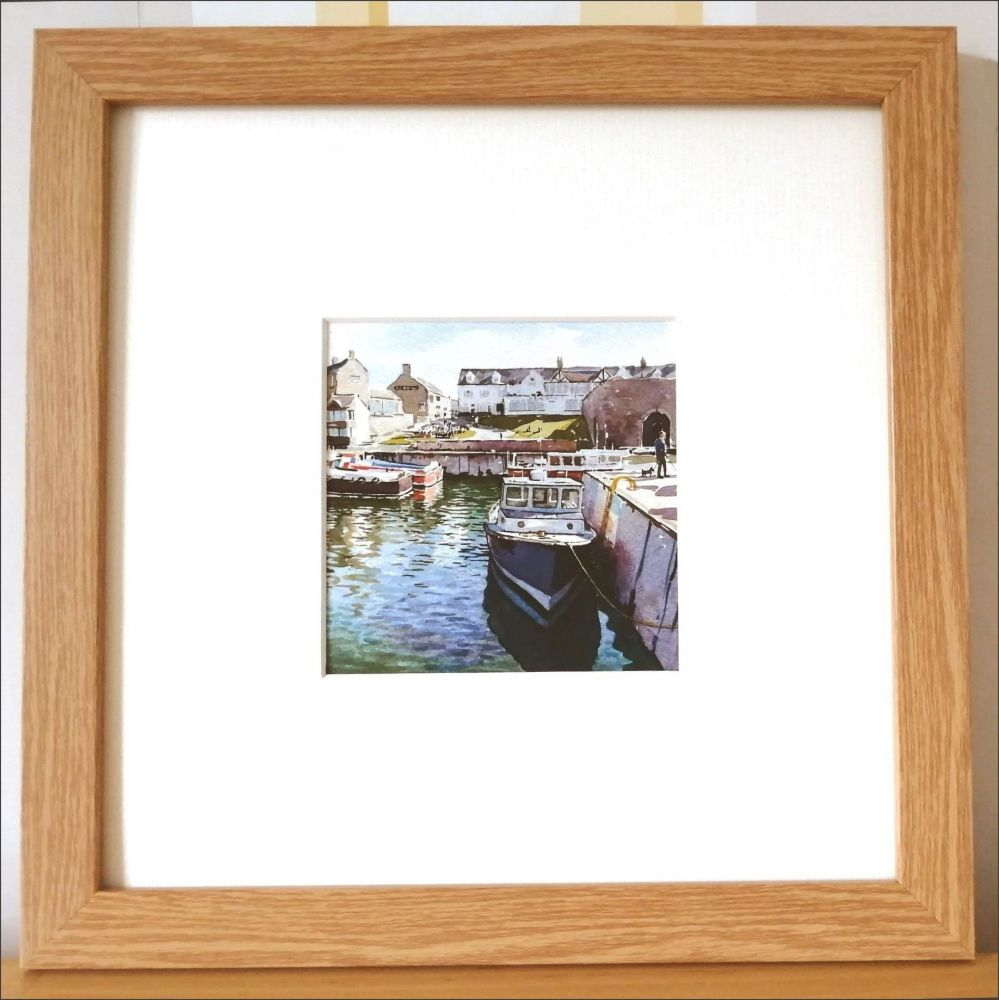 LP Seahouses harbour framed