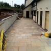 Indian slate patio installation by Spa Pipe Supplies Ltd.
