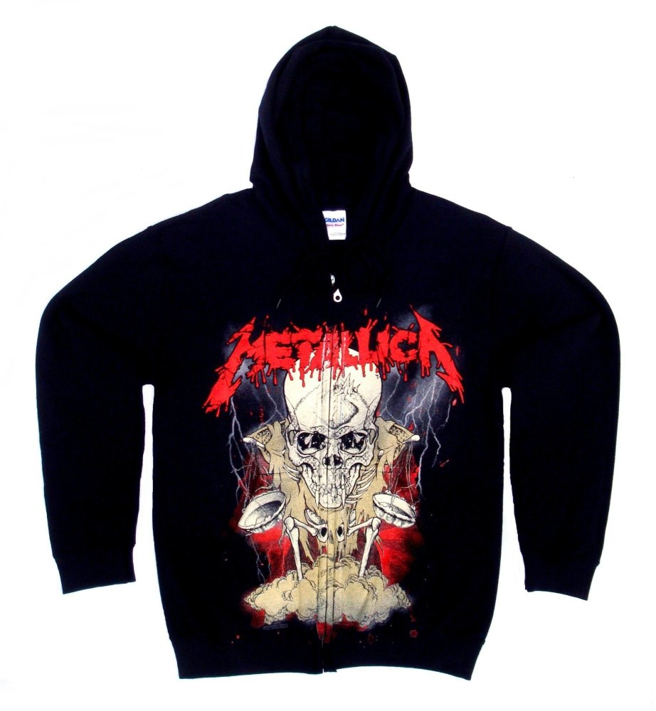 Metallica Pushead Hooded Sweatshirt Medium