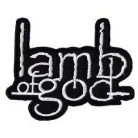 Lamb Of God White Logo Patch