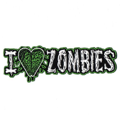 Kreepsville 666 I Heart Zombies Patch