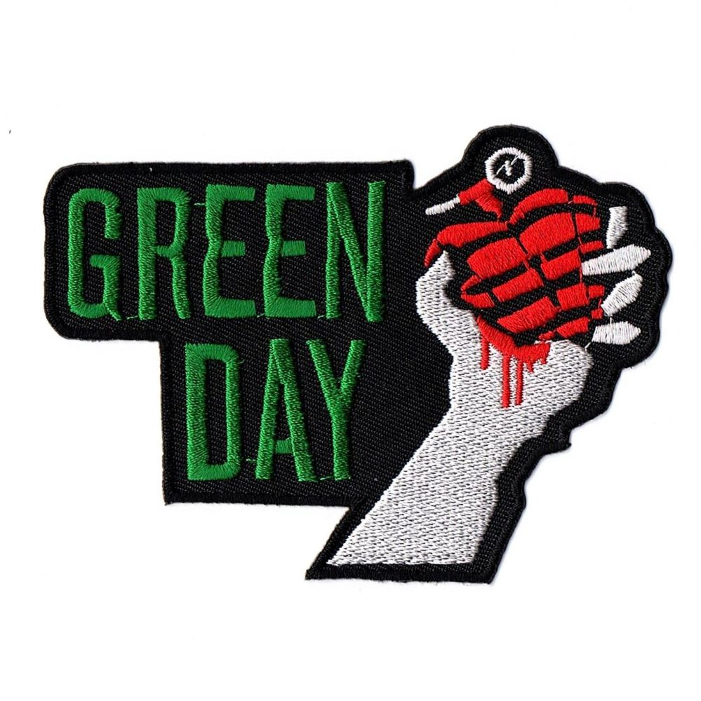 Green Day Hand Grenade Patch