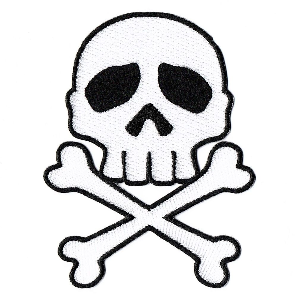 Kreepsville 666 Skull Cross Bones White Patch