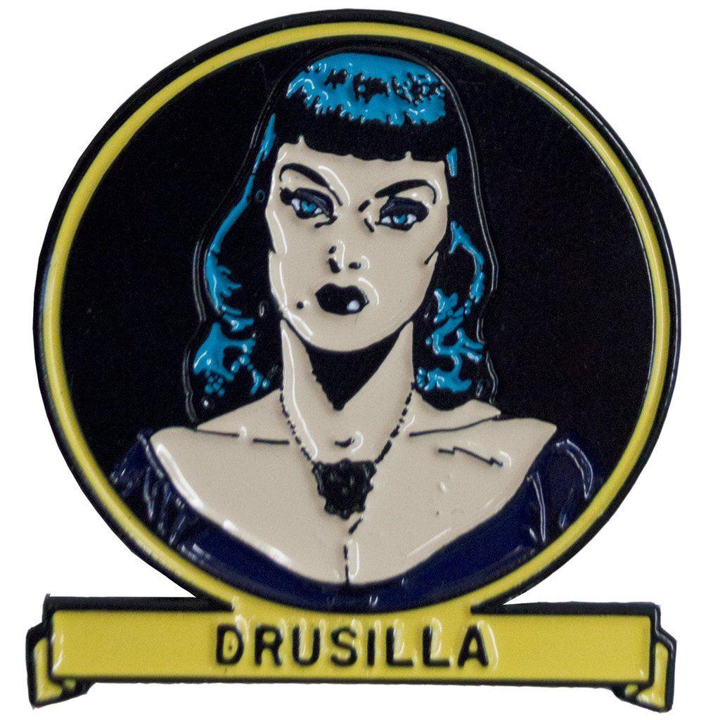 Kreepsville 666 Tales From The Crypt Drusilla Badge