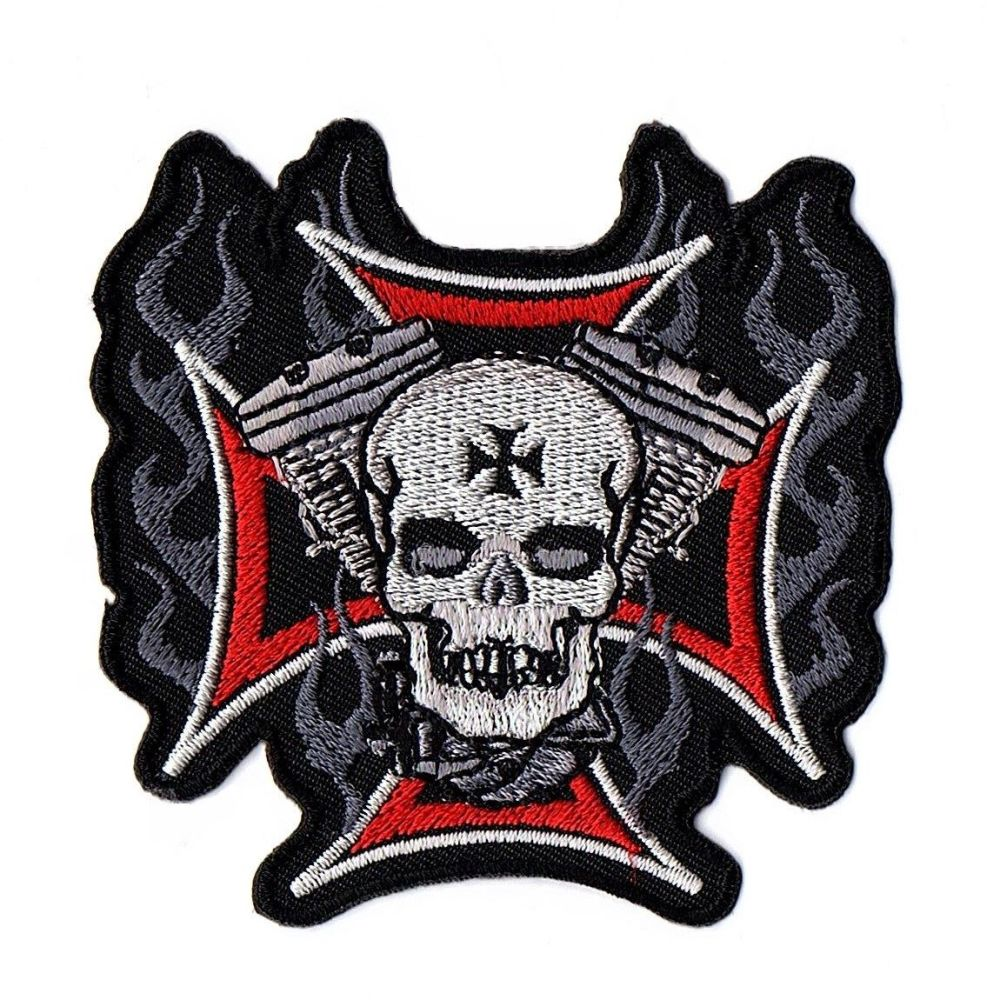 Maltese Cross Twin Head Cross Patch