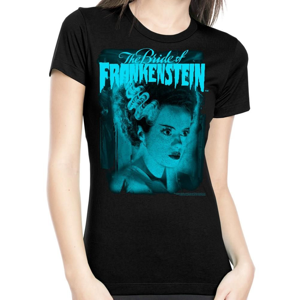 Rock Rebel Bride Of Frankenstein Blue Tshirt