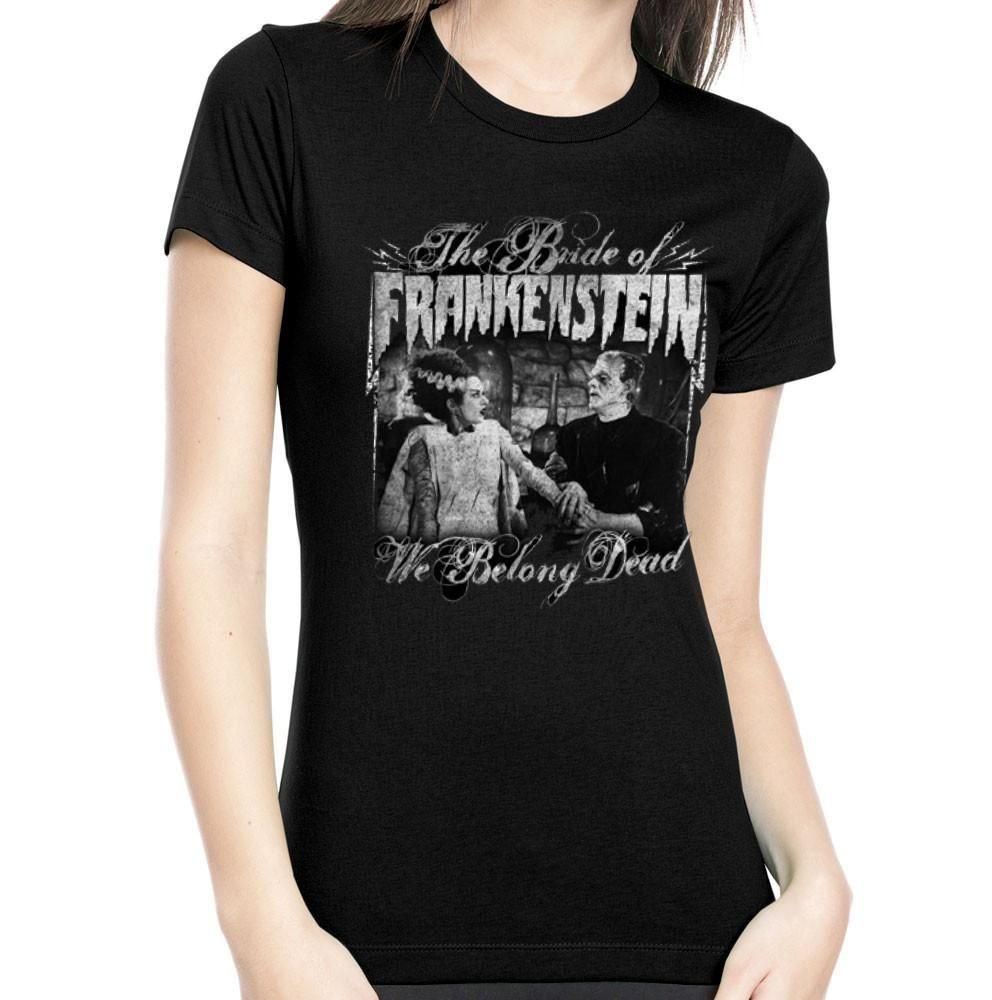 Rock Rebel Bride Of Frankenstein We Belong Dead Tshirt
