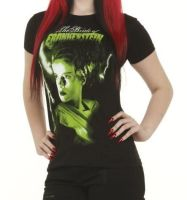 Rock Rebel Bride Of Frankenstein Green Tshirt