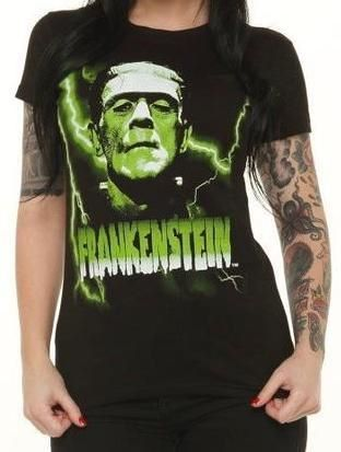 Rock Rebel Frankenstein Green Tshirt