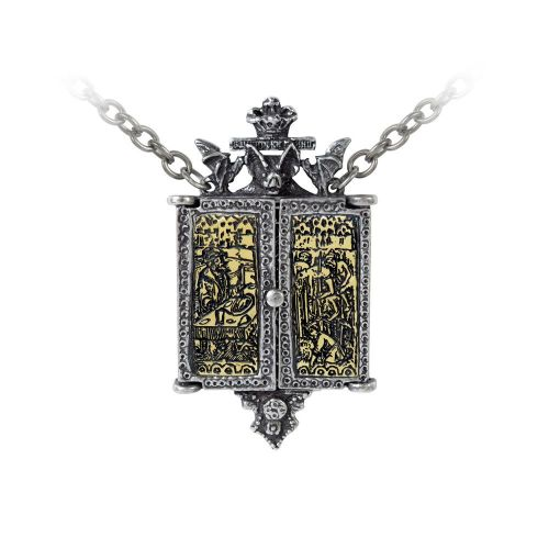 Alchemy Balkan Triptych Icon Locket Necklace