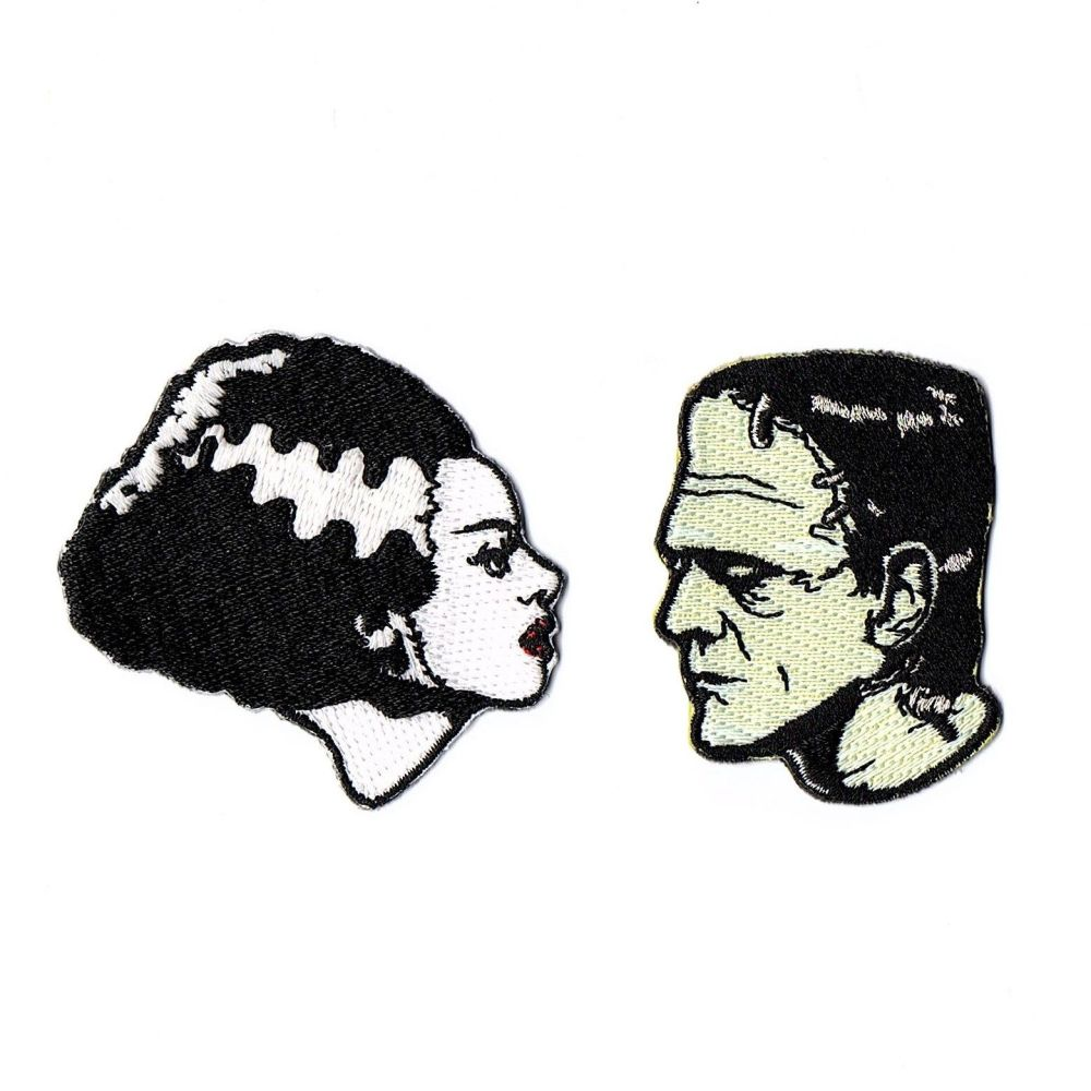Bride And Frankenstein We Belong Dead Patch Set