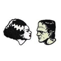 Bride And Frankenstein We Belong Dead Patch Set