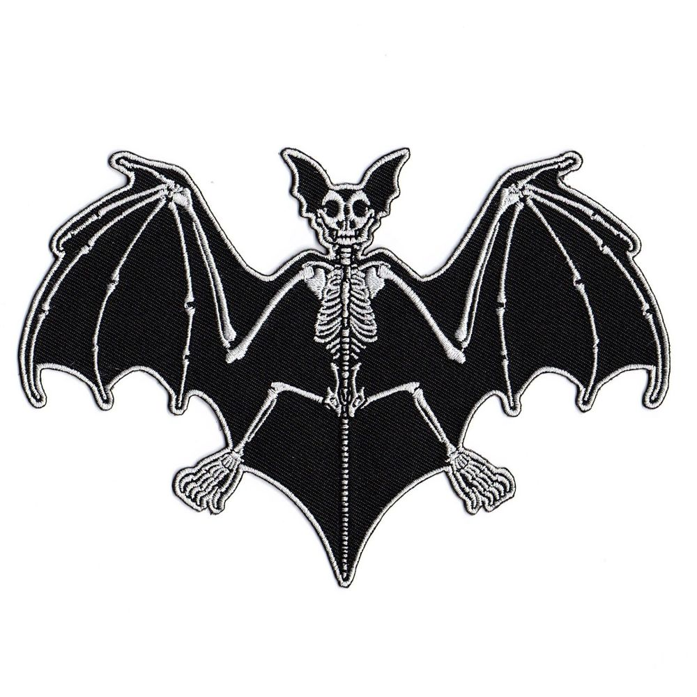 Kreepsville 666 Skelli Bones Bat Patch