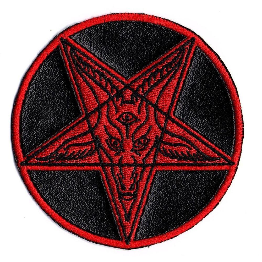 Kreepsville 666 Satanic Circle Red Patch