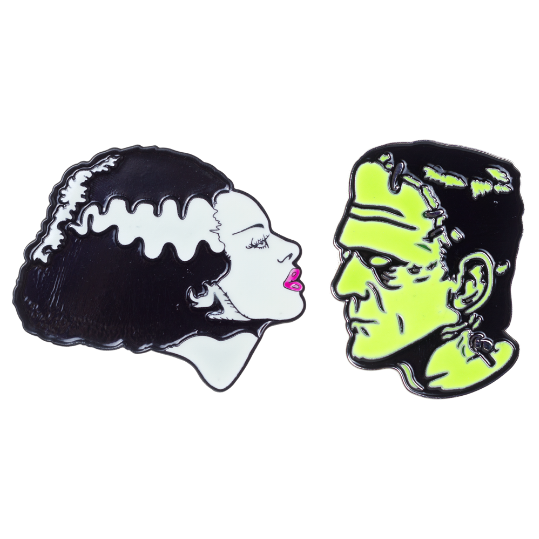 Bride And Frankenstein Badge Set