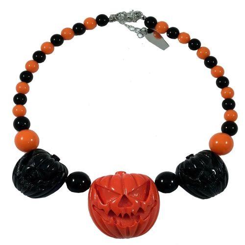 Kreepsville 666 Jack O Lantern Pumpkin Necklace