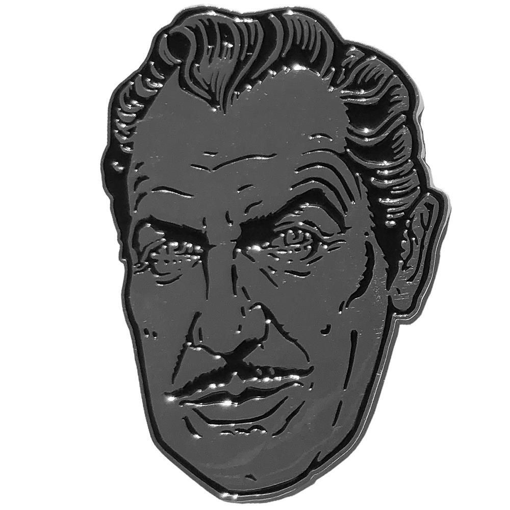Vincent Price Silver Suave XL Badge