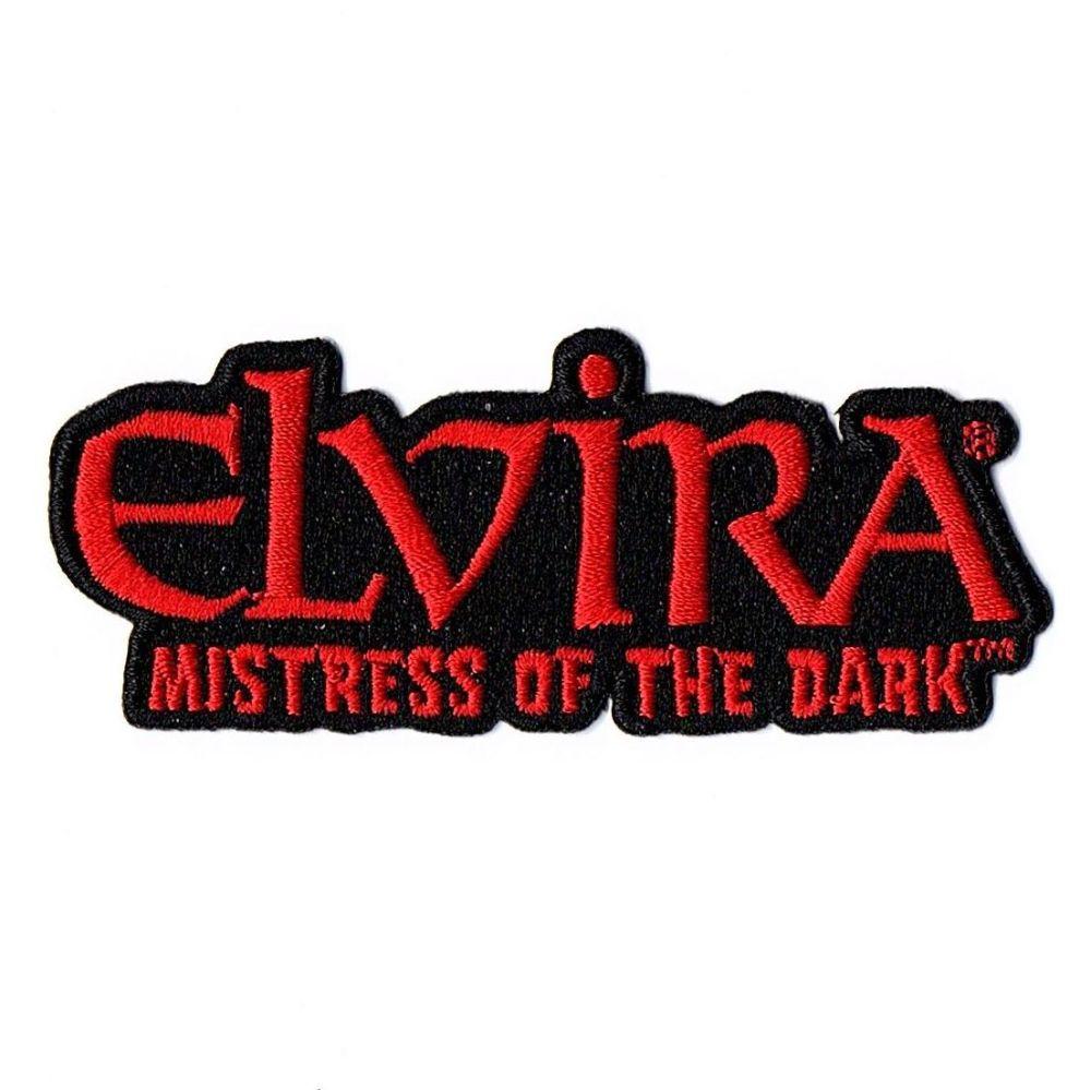 Elvira Mistress Of The Dark Red Logo Patch