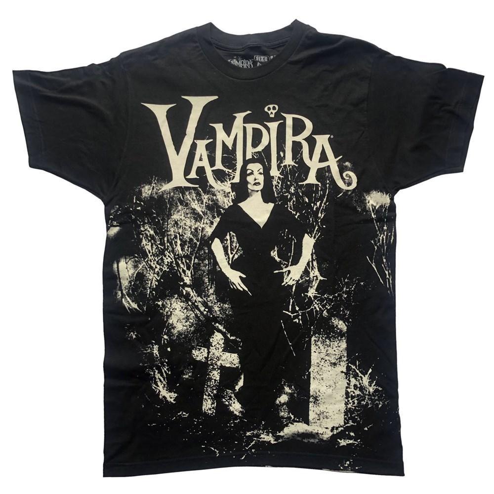 Kreepsville 666 Vampira Cemetery Mist Tshirt