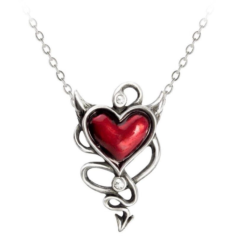 Alchemy Devil Heart Necklace