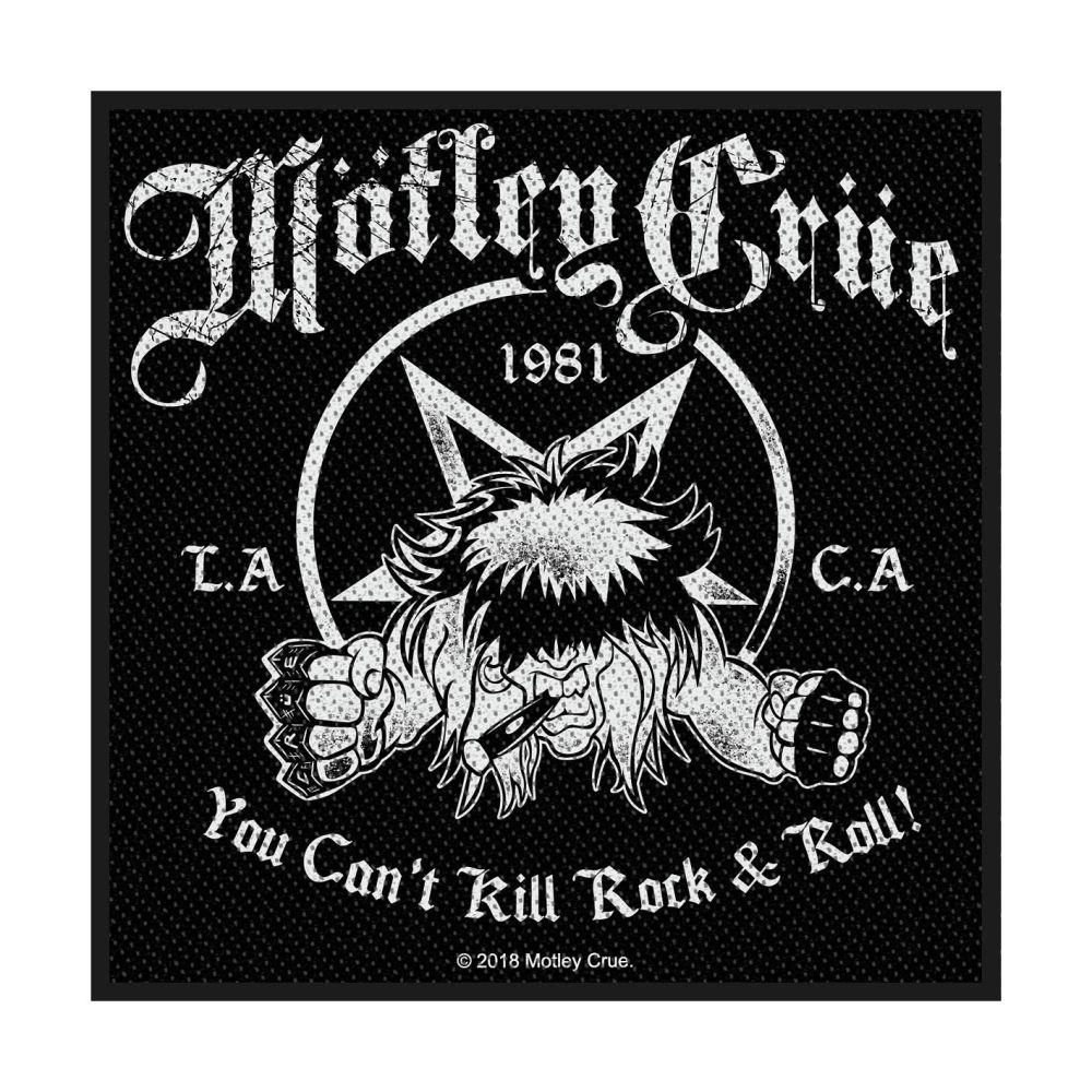 Motley Crue You Cant Kill Rock N Roll Patch