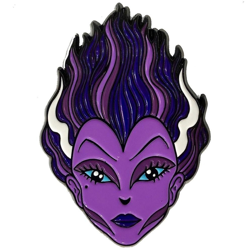 Kreepsville 666 Allan Graves Purple Bride Pin Badge