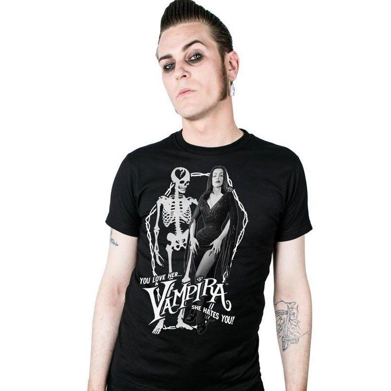 Kreepsville 666 Vampira Love Hate Tshirt