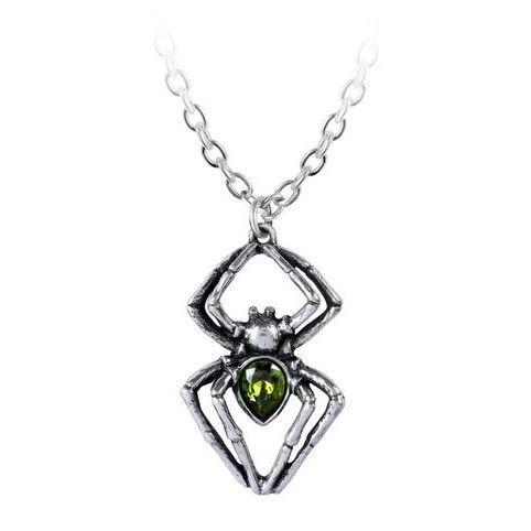 Alchemy Emerald Spiderling Necklace