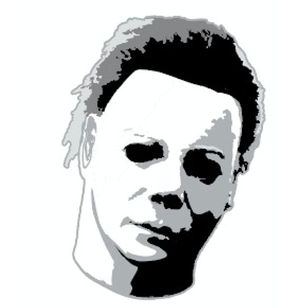 Halloween Michael Myers Head Badge