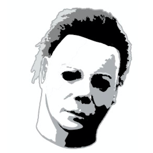 Halloween Michael Myers Head Badge