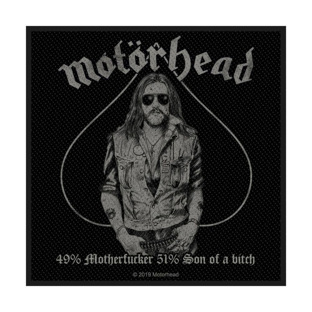 Motorhead 49% Motherfucker Patch
