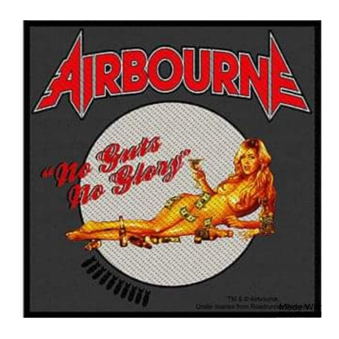 Airbourne No Guts No Glory Patch