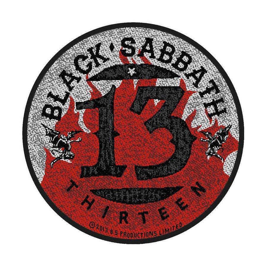 Black Sabbath 13 Flames Patch