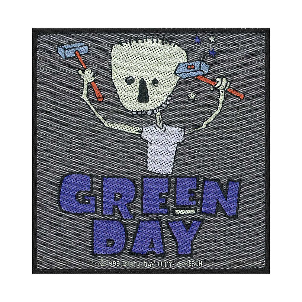 Green Day Hammer Face Patch