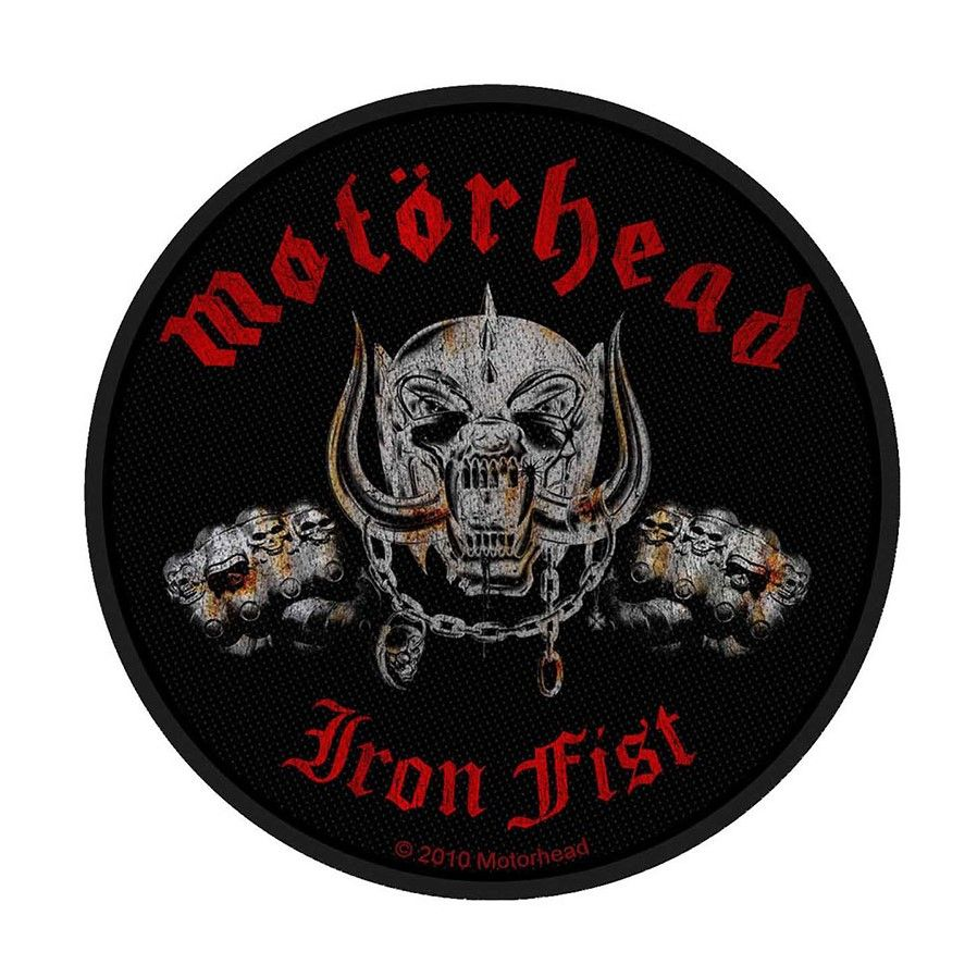 Motorhead Iron Fist Skull Patch