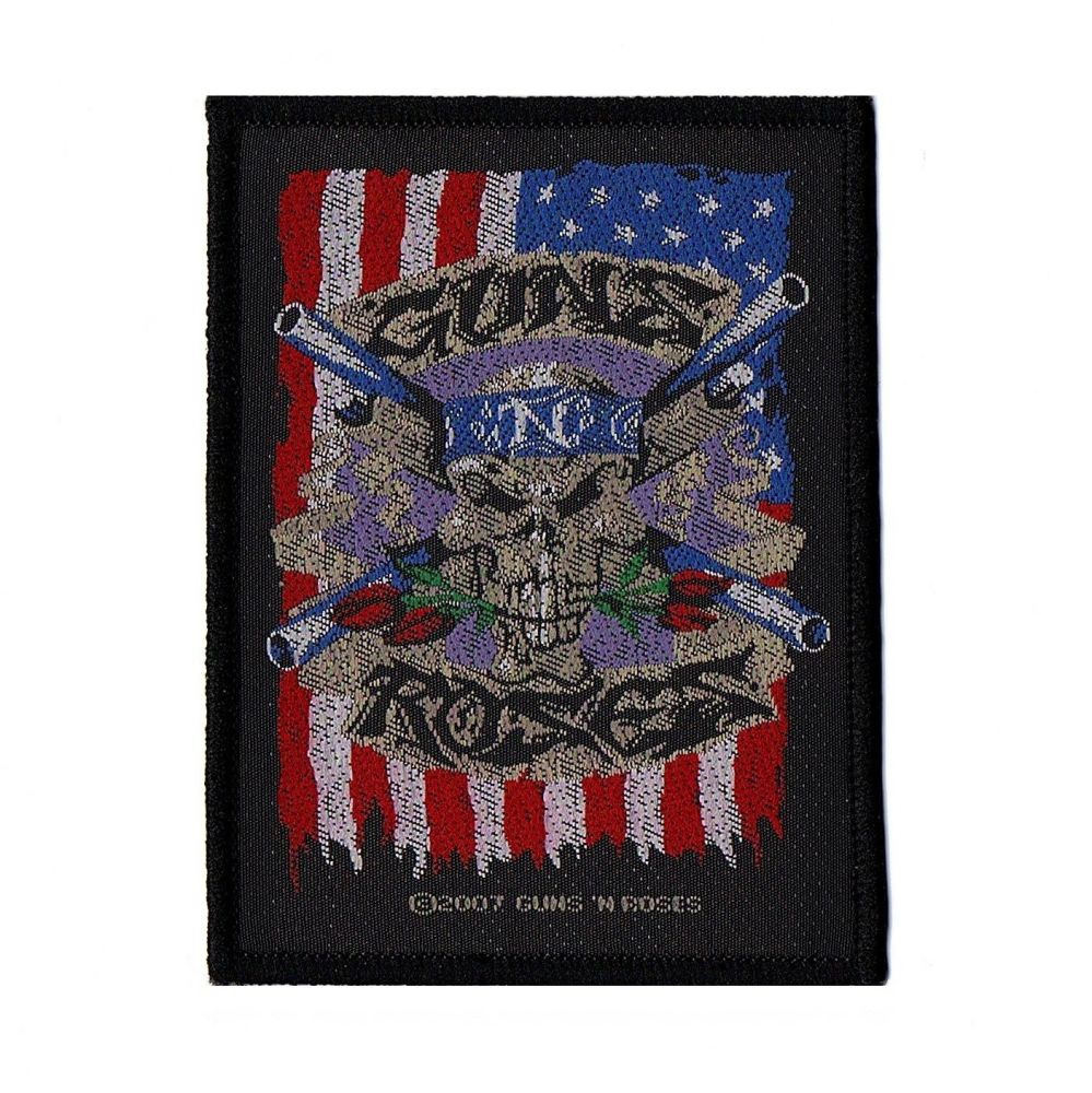Guns N Roses US Flag And Skull Patch