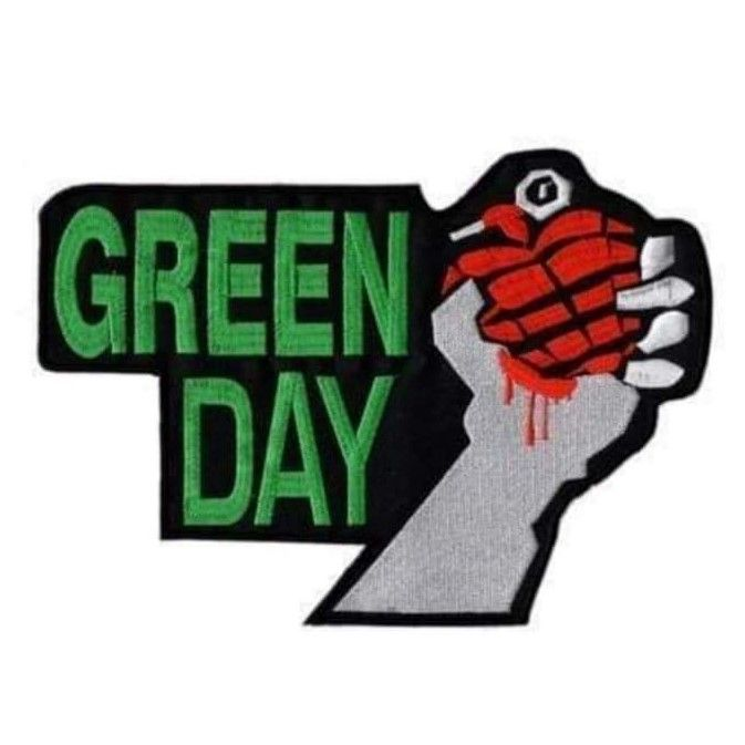 Green Day Hand Granade XL Patch
