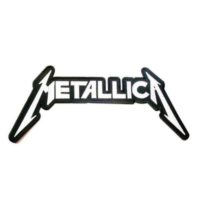 Metallica Black And White XL Logo Patch