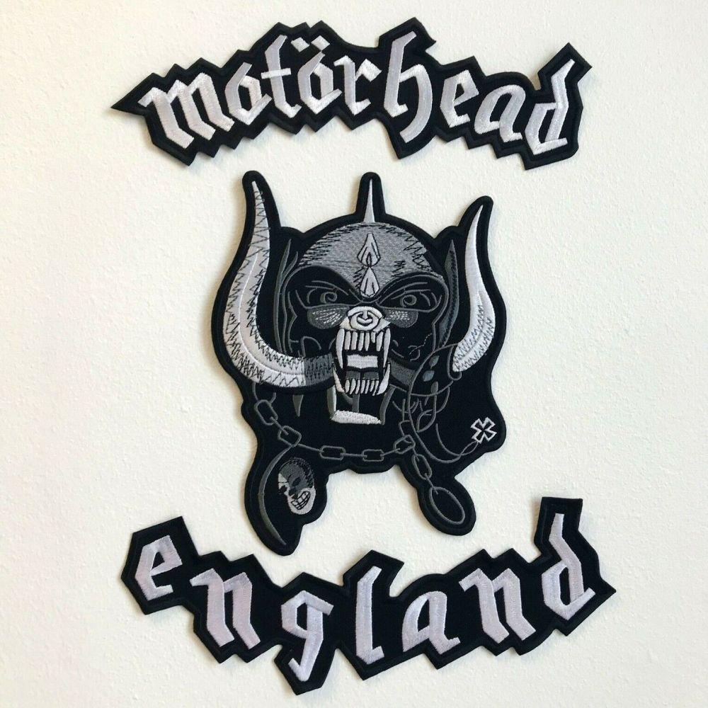 Motorhead England Triple Patch Set