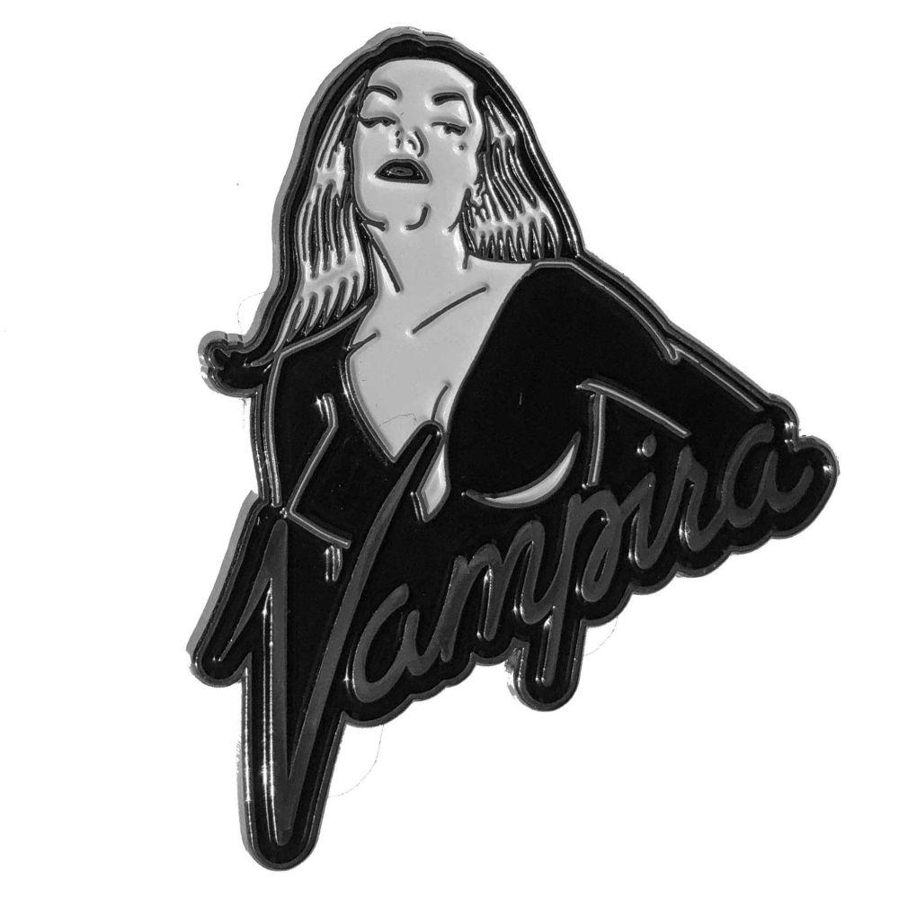 Kreepsville 666 Vampira Portrait Logo Badge